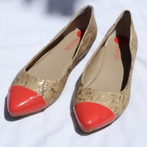 Kenneth Cole Reaction cork flats